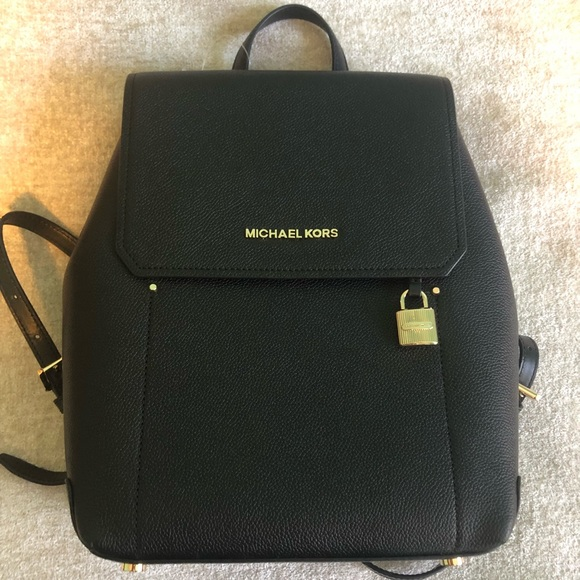 bea16d43b1c8 NEW MK Hayes Leather Backpack